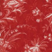 W108311 Extra Wide Cotton Fabric - Moda Snowberry - Traditional Floral on Red